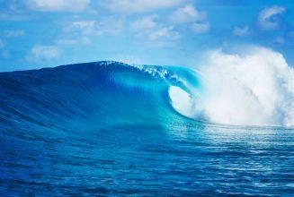 40148027 - blue ocean wave, epic surf